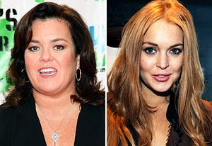 Rosie O'Donnell, Lindsay Lohan  | Photo Credits: Taylor Hill/WireImage, Amy Graves/WireImage