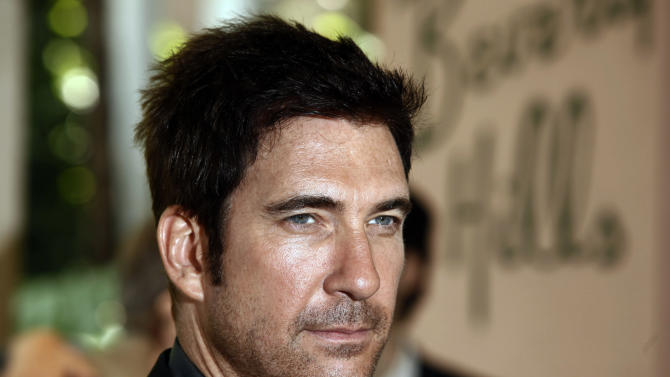 FILE - In this Aug. 11, 2009 file photo, actor Dylan McDermott arrives at the Hollywood Foreign Press Annual Installation luncheon in Beverly Hills, Calif. A reopened police investigation in Connecticut has concluded that McDermott's mother was killed by her gangster boyfriend in 1967. The Republican-American newspaper reports Waterbury, Conn., police reopened the investigation last year into Diane McDermott's death after Dylan McDermott contacted them with questions. (AP Photo/Matt Sayles, File)