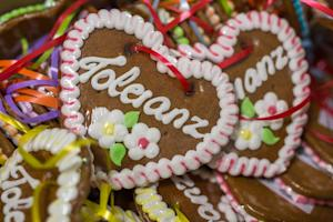 "Ginger bread hearts inscribed ""Tolerance""…"