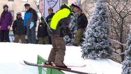 Athletes Demo New Olympic Sport: Slopestyle Skiing