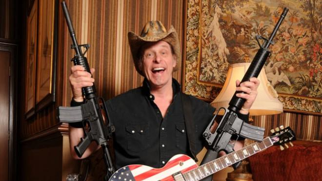 Ted Nugent may have to leave his heavy artillery behind, but still, his mere presence at the State of the Union tonight will surely send a clear pro-gun message.
