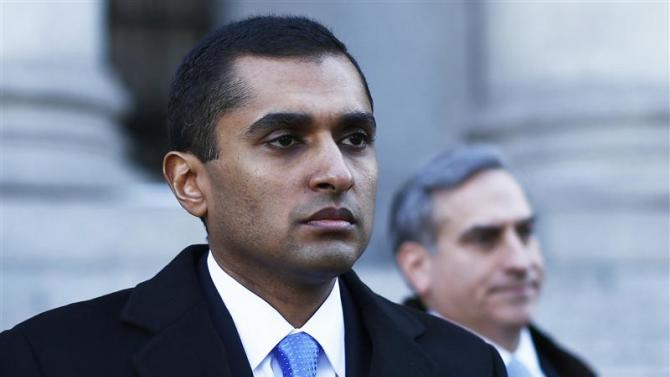 Former SAC Capital Advisors portfolio manager Martoma walks out of the courthouse in downtown Manhattan, New York