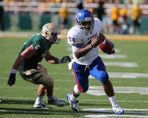 Baylor beats Kansas 41-14 for 1st Big 12 victory