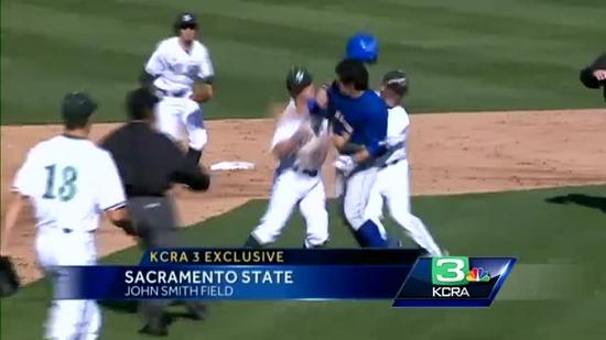 Bench-clearing brawl erupts at Sac State's home-opener