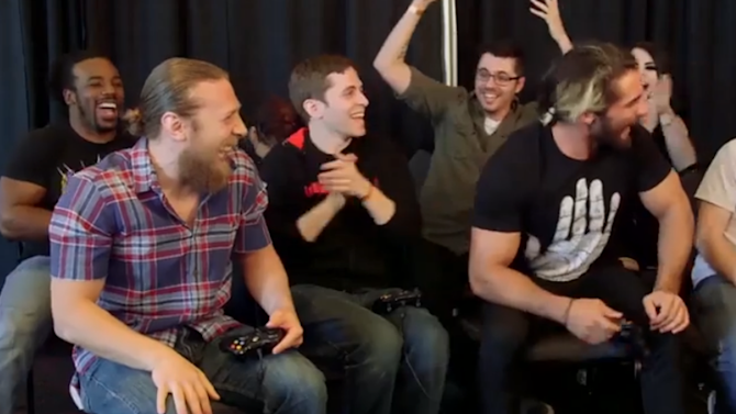 Pro rasslers are just as crazy playing Gang Beasts as they are in Wrestlemania