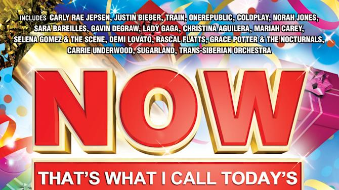 """This CD cover image released by Capitol Records shows a holiday release, """"Now That's What I Call Today's Christmas,"""" by various artists including Carly Rae Jepsen, Justin Bieber and Train. (AP Photo/Capitol Records)"""