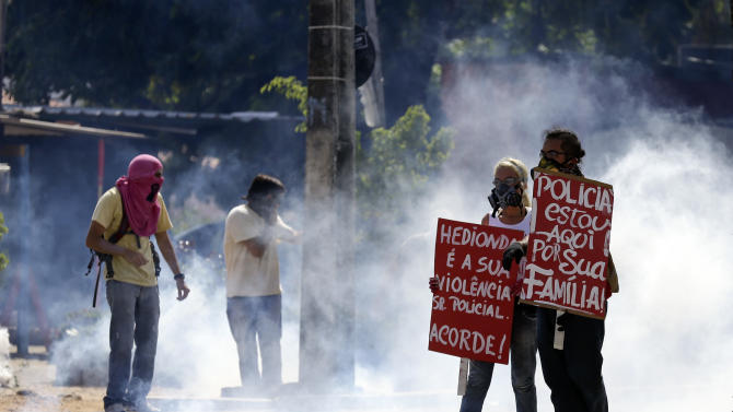 Brazil protesters target Confederations Cup match