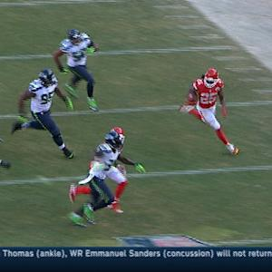 Kansas City Chiefs running back Jamaal Charles gashes Seattle Seahawks defense for 47 yards