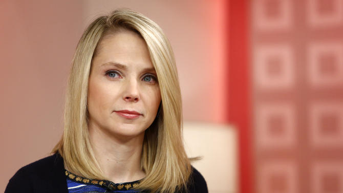 "FILE - This Feb. 20, 2013 file image released by NBC shows Yahoo CEO Marissa Mayer appearing on NBC News' ""Today"" show, in New York to introduce the website's redesign. As Mayer goes about her CEO business of saving Yahoo, which now involves a ban on working from home, a new study shows a significant jump in the number of U.S. employers offering flex and other quality-of-life perks. (AP Photo/NBC, Peter Kramer, file)"
