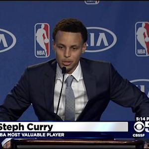 Warriors' Curry Named NBA's Most Valuable Player
