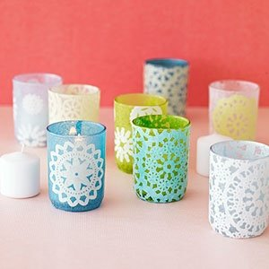 Lace Votive Holders