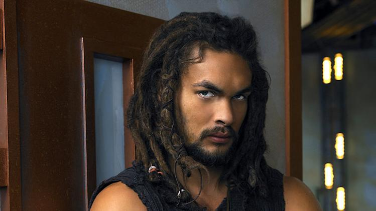 Jason Momoa stars as Ronnon Dex in Stargate Atlantis.