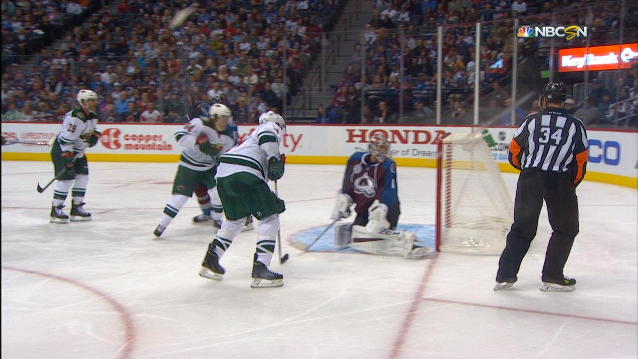 Parise notches second goal in season opener