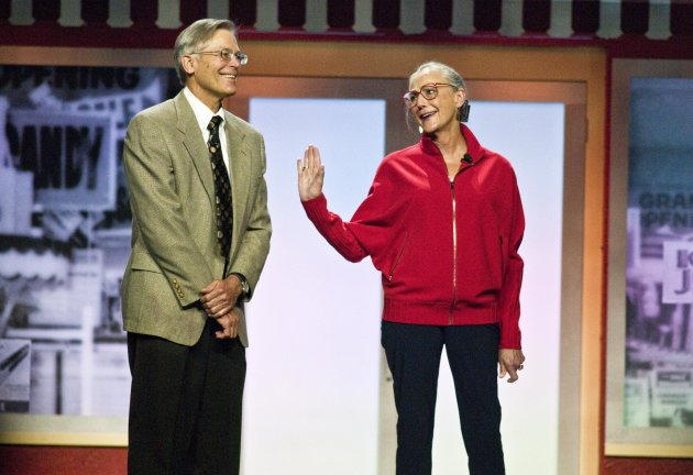Jim Walton and Alice Walton (AP Photo/April L. Brown)