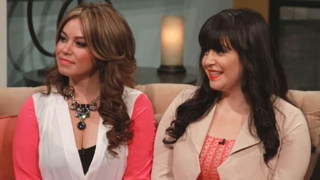 Jenni Rivera's daughters, Chiqui and Jacqie, stop by Access Hollywood Live on April 19, 2013  -- Access Hollywood