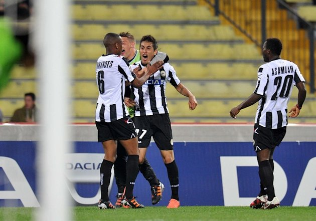 Udinese's Players AFP/Getty Images
