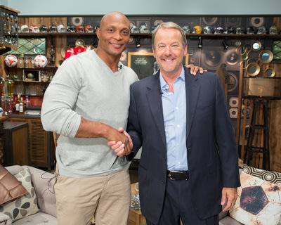 "Eddie George with host Robert ""Daddy"" Nickell"