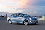 This photo provided by Hyundai Motor America, shows the 2012 Hyundai Elantra, winner of the North American Car of The Year award at the North American International Auto Show in Detroit, Monday, Jan. 9, 2012. (AP Photo/Hyundai Motor America)