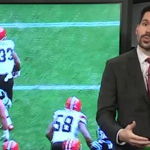 Why was Cleveland Browns defensive lineman Billy Winn ruled down?