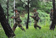 "South Korean army soldiers during a joint military drill with US troops on August 20. The two allies upgraded the drill to strengthen the role of the South Korean army in the event of an ""emergency situation in the North,"" a report said"