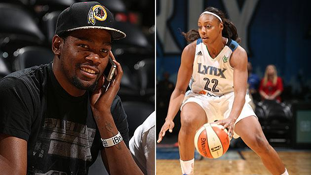 Kevin Durant's engaged to Monica Wright of WNBA's Minnesota Lynx