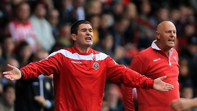 Sheffield United manager Nigel Clough felt a penalty should not have been given against his team