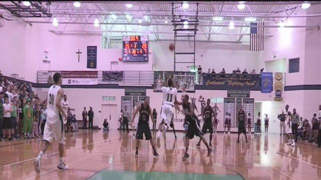Cathedral's Mo Evans sinks three-quarter court shot