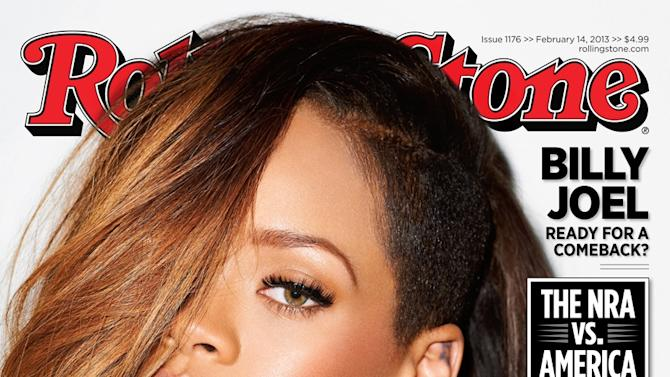 "This magazine cover image released by Rolling Stone shows performer Rihanna on the cover of the February 2013 issue of the popular music magazine. Rihanna talks about getting back together with her ex-boyfriend, Chris Brown, and what it means for her public image. ""I decided it was more important for me to be happy,"" she tells the new issue of Rolling Stone. ""I wasn't going to let anybody's opinion get in the way of that. Even if it's a mistake, it's my mistake. Brown assaulted the pop starr after a pre-Grammy Awards party in 2009. The issue hits news stands on Friday, Feb. 1. (AP Photo/Rolling Stone)"