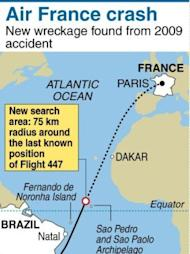 New wreckage found after a search is resumed at site where Air France plane crashed en route to Paris from Rio de Janairo in 2009. Salvage workers will soon start pulling up from the ocean floor the bodies of passengers and wreckage found almost two years after an Air France jet plunged into the Atlantic, officials said Monday