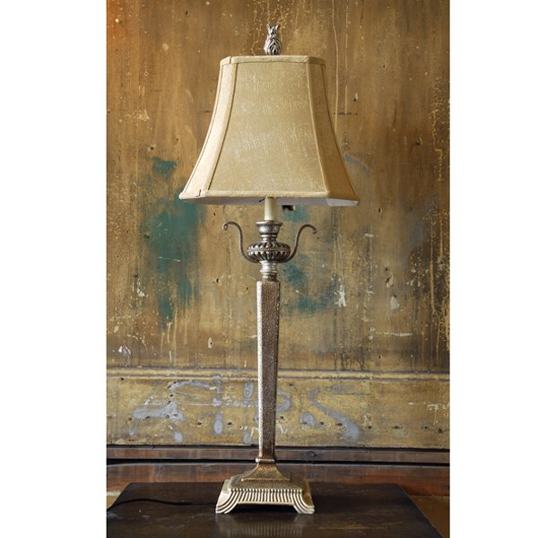 Silver finished table lamp - 100 - LASSCO