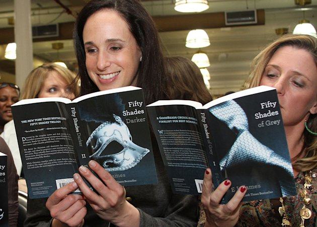 &quot;Fifty Shades of Grey,&quot; the first book in a trilogy of &quot;Twilight&quot;-inspired fan-fiction bondage erotica by E.L. James, became an underground reading obsession for millions of women in 2012. (Rob Kim/Getty Images)