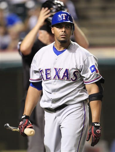 Rangers roll past reeling Indians 5-3