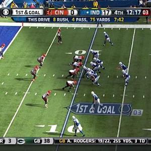 Indianapolis Colts running back Ahmad Bradshaw 9-yard touchdown run