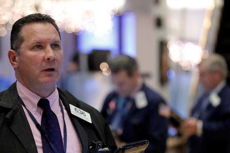 Banks, telecoms lead Wall Street up; another Dow record