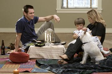 Jim Carrey , Aaron Michael Drozin and Tea Leoni in Columbia Pictures' Fun with Dick and Jane