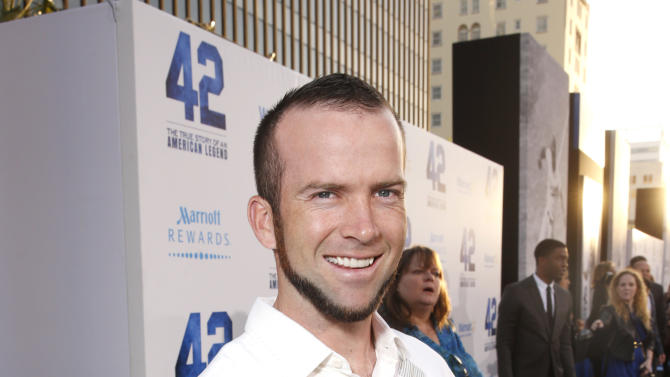 "Lucas Black arrives at the LA premiere of ""42"" at the TCL Chinese Theater on Tuesday, April 9, 2013 in Los Angeles. (Photo by Todd Williamson /Invision/AP)"