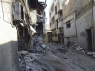 Damaged buildings are seen in the old city of Homs September 4, 2012. Picture taken September 4, 2012. REUTERS/Shaam News Network/Handout