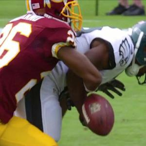 Philadelphia Eagles running back Darren Sproles fumbles