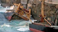 The stricken MV Tycoon has finally been removed from the Christmas Island port