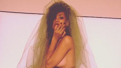 Rihanna is a Topless Bride