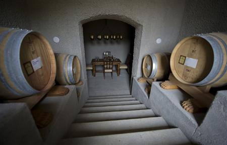 The interior of a wine cave …