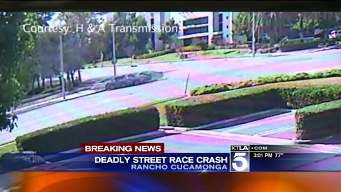 Video Released in Search for Driver in Possible Street Racing Crash That Left 1 Dead in Rancho Cucamonga