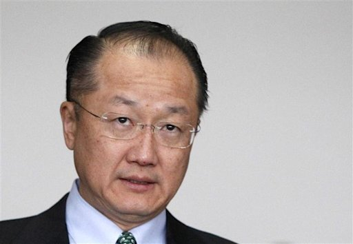 Jim Yong Kim, the U.S. nominee for the next World Bank president, leaves Finance Ministry after meeting in Tokyo
