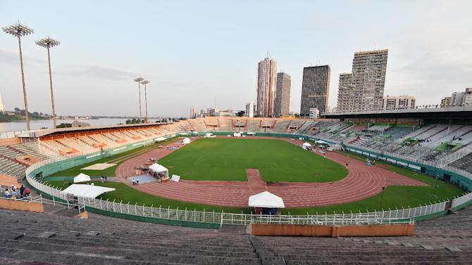 The Felix Houphouet-Boigny Stadium in Abidjan, which will host the Africa Cup of Nations match between the Ivory Coast and Sierra Leone
