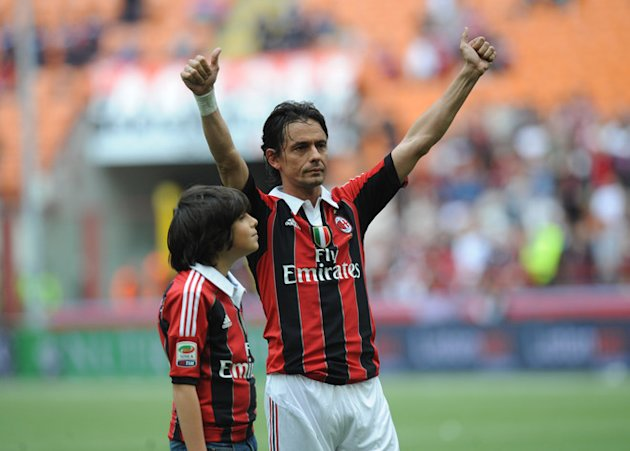 AC Milan's Filippo Inzaghi Celebrates AFP/Getty Images