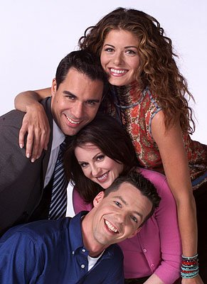 Debra Messing, Eric McCormack, Megan Mullally and Sean Hayes on NBC's Will and Grace