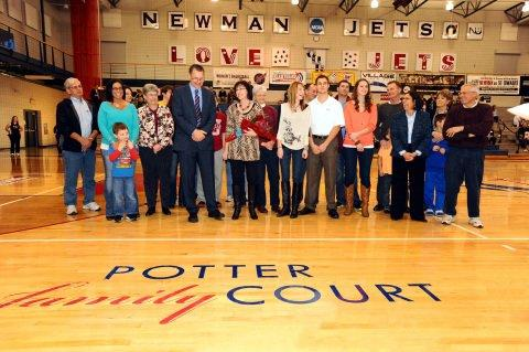 Newman University Athletics and Potter Family Share in Court Dedication Celebration