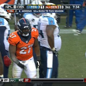Denver Broncos running back Knowshon Moreno 1-yard TD run
