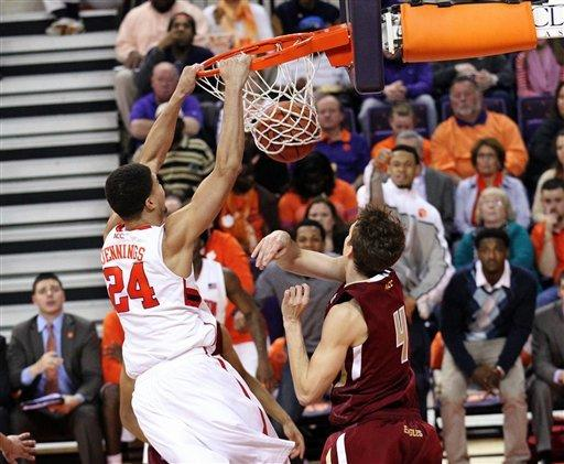 Hanlan's 24 lead Boston College over Clemson 68-61