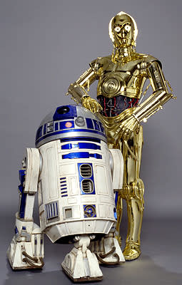 Kenny Baker as R2-D2 and Anthony Daniels as C-3PO in 20th Century Fox's Star Wars: Episode III